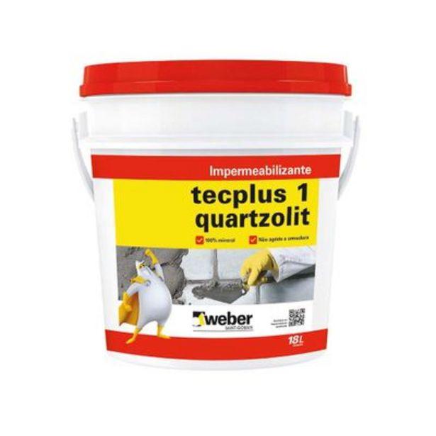 Oferta de Impermeabilizante Quartzolit Tecplus 18 Litros Branco Leitoso por R$78,96
