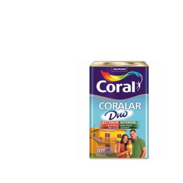 Oferta de Tinta Coral Econômica Coralar Duo acrílica fosca branco 18L por R$239,9