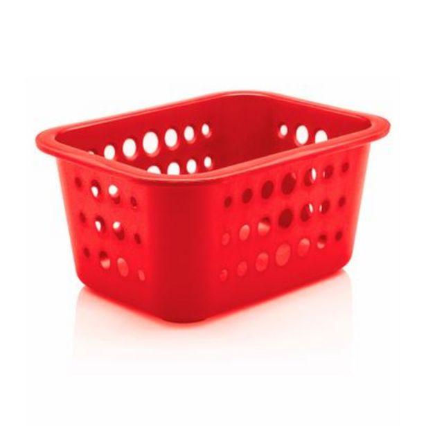 Oferta de Cesta Organizadora Ou 1,5L Plástico Vermelho por R$9,5