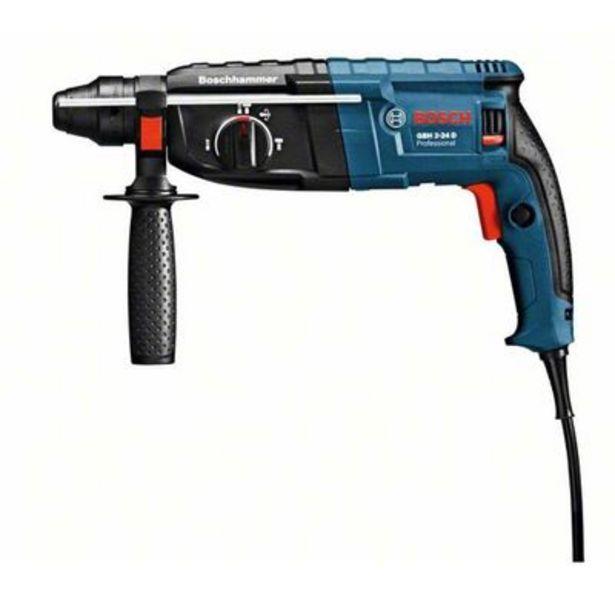 Oferta de Martelete perfurador e rompedor 220V 820W GBH 2-24D com maleta azul Bosch por R$773,42