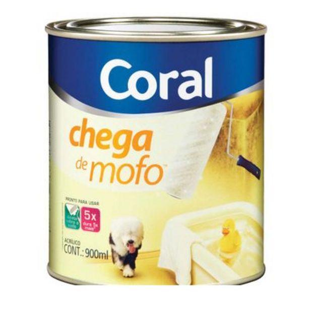 Oferta de Tinta acrílica fosca Chega de Mofo branco 900ml Coral por R$29,61
