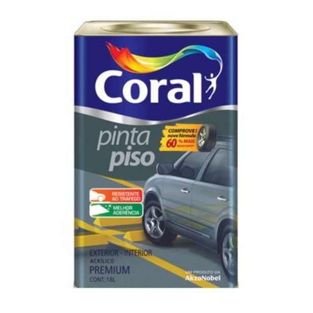 Oferta de Tinta Coral Pinta Piso Fosco Concreto 18L por R$339,9