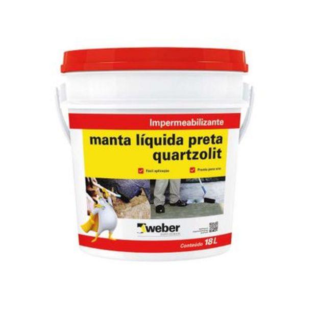 Oferta de Manta Líquida 18 Litros Quartzolit Preta por R$189,9