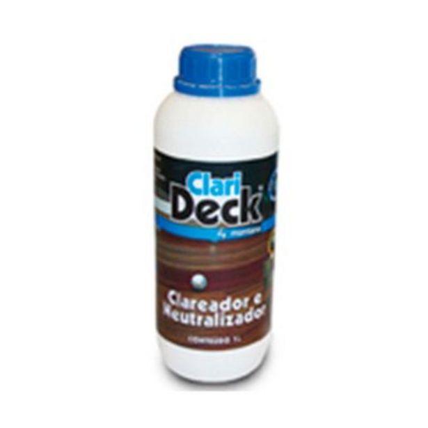 Oferta de Clareador e neutralizador para madeira Clarideck 1 litro Montana por R$29,36