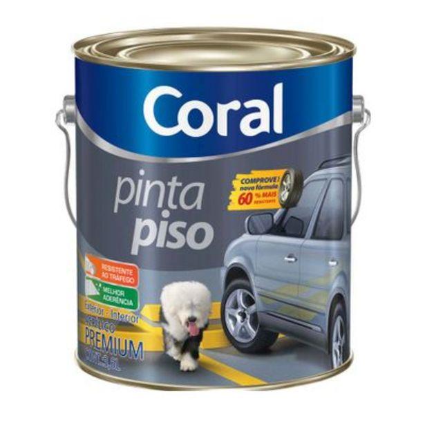Oferta de Tinta Coral Pinta Piso Fosco 3,6L Cinza Escuro por R$79,9