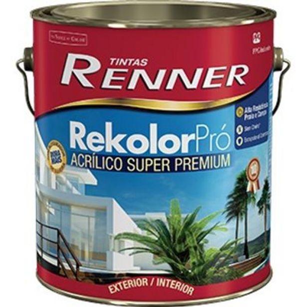 Oferta de Tinta Rekolor Pró Semibrilho Branco 3,6L Renner por R$119,9