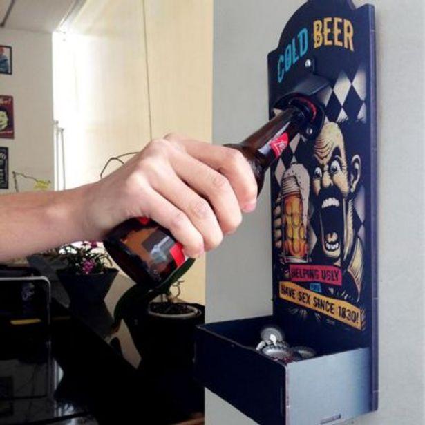 Oferta de Abridor de Garrafas Cia Laser para Parede Cold Beer por R$34,9