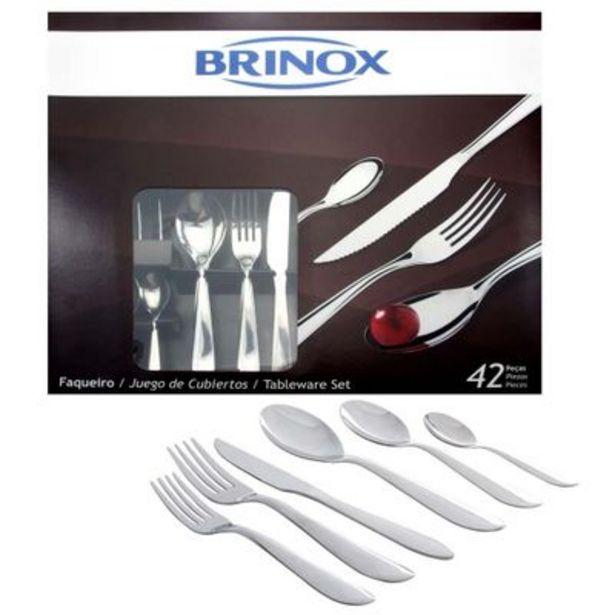 Oferta de Faqueiro Brinox Bellagio Precision 42 Peças por R$124,9