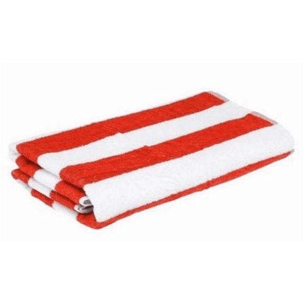 Oferta de Toalha de Praia Santista Stripes Felpuda Vermelho por R$36,9
