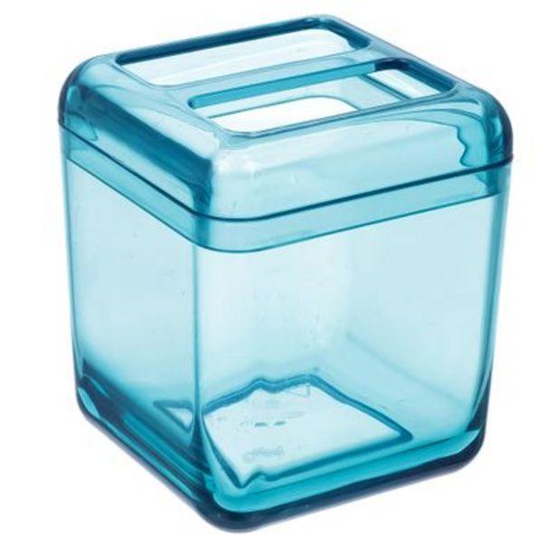 Oferta de Porta Escova Coza Cube Verde por R$14,9