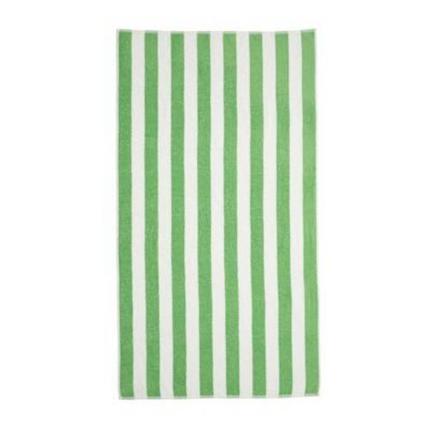 Oferta de Toalha de Praia Santista Stripes Felpuda 0702 Verde por R$36,9