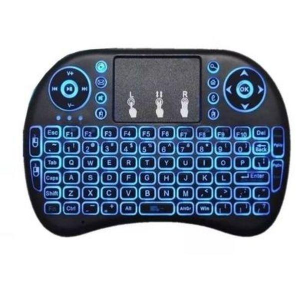 Oferta de Mini Teclado Sem Fio Para Smart TV Air Mouse Touch Oex CK103 24GHz por R$99,9