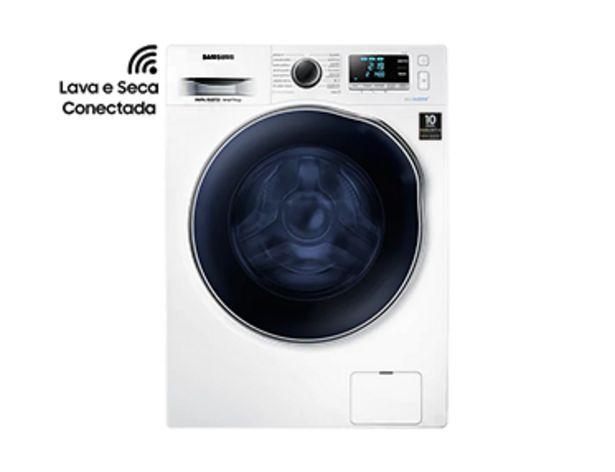 Oferta de Lava e Seca Smart WD6000 Porta Crystal Blue com Ecobubble™ e Lavagem a Seco WD11J64E4AW Branca 11/7 kg por R$3799
