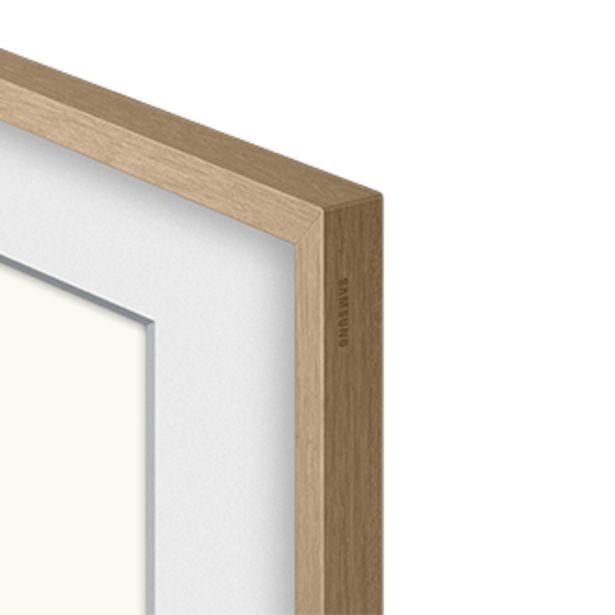 """Oferta de Moldura para Smart TV 65"""" The Frame 2021 cor bege amadeirado por R$549"""