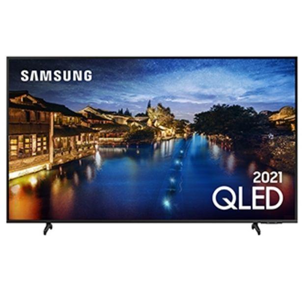 """Oferta de Samsung Smart TV 65"""" QLED 4K 65Q60A, Modo Game, Som em Movimento Virtual, Tela sem limites, Design slim, Visual livre de cabos, Alexa built in por R$7499"""