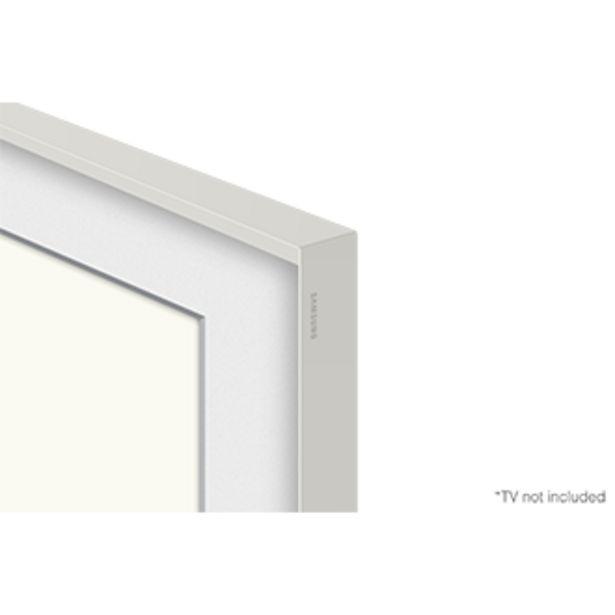 """Oferta de Moldura para Smart TV 55"""" The Frame 2021 cor branco estilizado por R$499"""