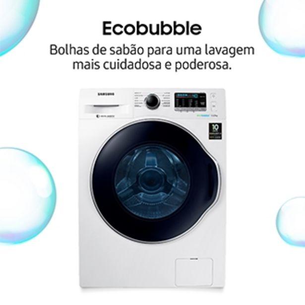 Oferta de Lavadora Samsung WW11K Porta Crystal Blue com Ecobubble™ WW11K6800AW Branca 11Kg (220V) por R$3099