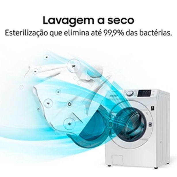 Oferta de Lava e Seca Samsung WD7500 Smart (Wi-Fi) com Ecobubble™, Lavagem a Seco WD15N7210KW/AZ Branco 15/8 kg (127V) por R$7699