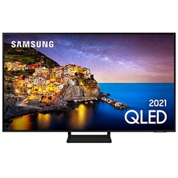 """Oferta de Samsung Smart TV 65"""" QLED 4K 65Q70A, Modo Game, Processador IA, Som em Movimento Virtual, Tela sem limites, Design slim, Alexa built in por R$8499"""