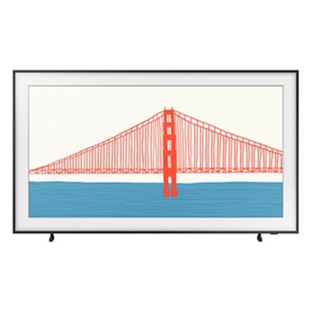 """Oferta de Samsung Smart TV 50"""" QLED 4K The Frame 2021 50LS03A, Design slim, Suporte de parede Slim incluso, Única Conexão, Molduras customizáveis, Modo Arte por R$5499"""