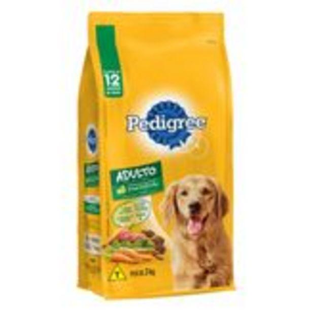 Oferta de Alimento para Cães Adultos Carne e Vegetais Ótima Digestão Pedigree Pacote 3Kg por R$44,99