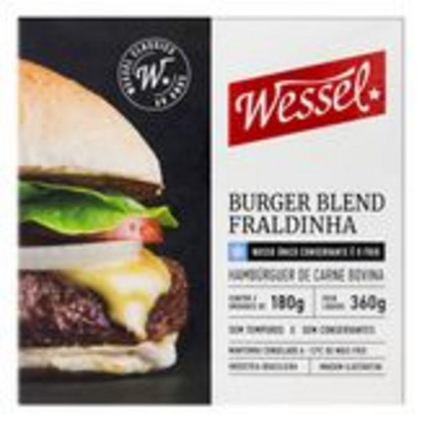 Oferta de Hambúrguer de Carne Bovina Fraldinha Blend Wessel Caixa 360g com 2 Unidades por R$20,9