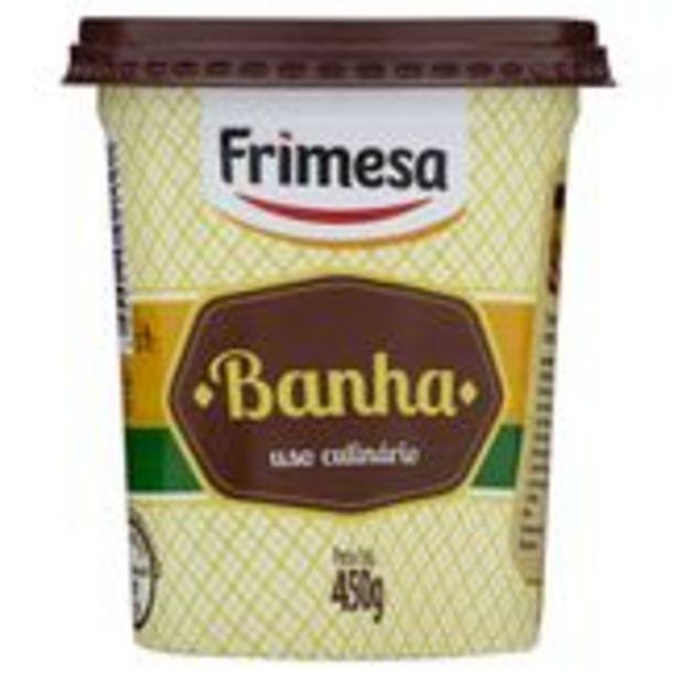 Oferta de Banha Uso Culinário Frimesa Pote 450g por R$7,99
