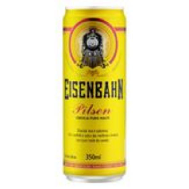 Oferta de Cerveja Pilsen Puro Malte Eisenbahn Pack com 12 Unidades 350ml Cada por R$39,48