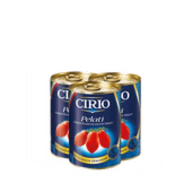 Oferta de Tomate Pelado Cirio Pack com 3 Unidades 400g Cada por R$16,99