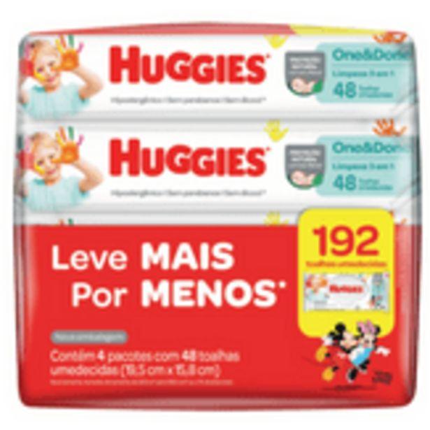 Oferta de Toalha Umedecida One&Done Limpeza 3 em 1 Huggies Pack com 4 Unidades por R$38,99