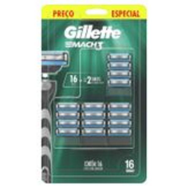 Oferta de Refils para Barbear Mach3 Gillette Blister 16 Unidades por R$138,99