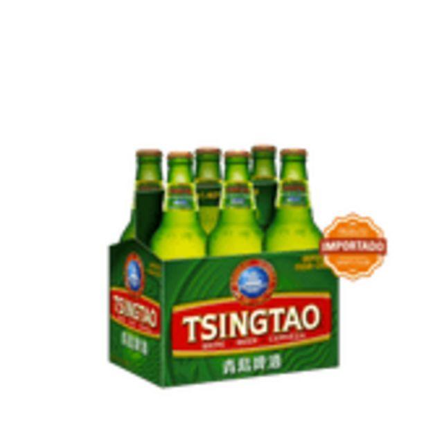 Oferta de Cerveja Importada Tsingão Pack com 6 Unidades 330ml Cada por R$29,88