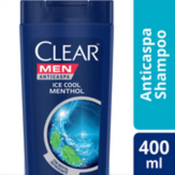 Oferta de Shampoo Anticaspa Ice Cool Menthol Men Clear 400ml por R$25,77