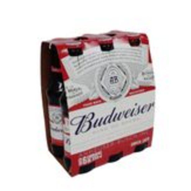 Oferta de Cerveja Lager Budweiser Pack com 6 Unidades 330ml Cada por R$24,54