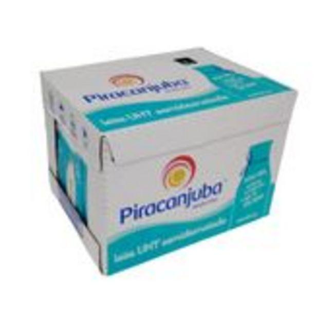 Oferta de Leite UHT Semidesnatado Piracanjuba Pack com 12 Unidades 1l Cada por R$41,4