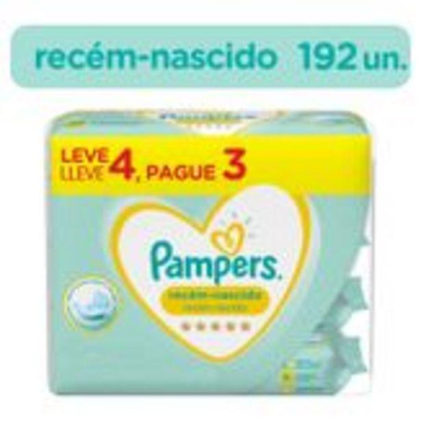 Oferta de Lenço Umedecido Recém-Nascido Pampers Pack com 4 Unidades por R$47,99