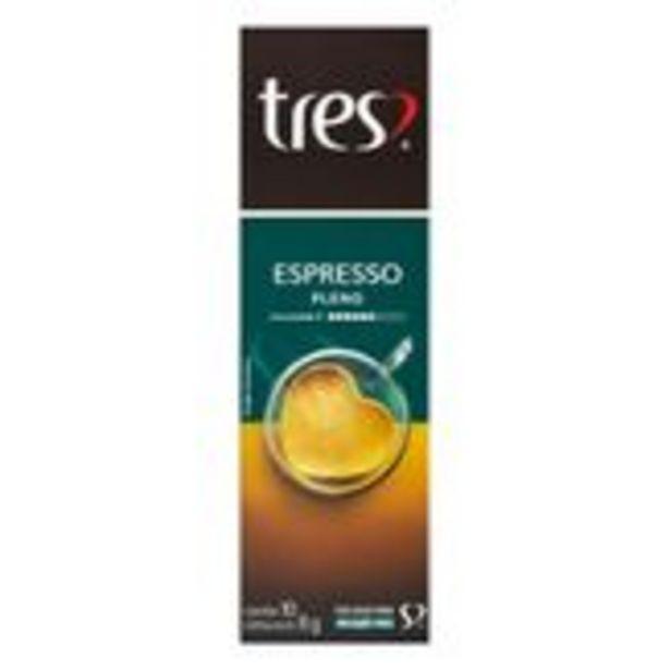 Oferta de Café em Cápsula Torrado e Moído Espresso Pleno Tres Pack com 10 Unidades 8g Cada por R$13,96