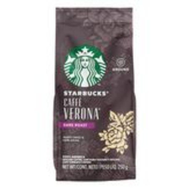 Oferta de Café Torrado e Moído Starbucks Caffè Verona Pacote 250g por R$25,99