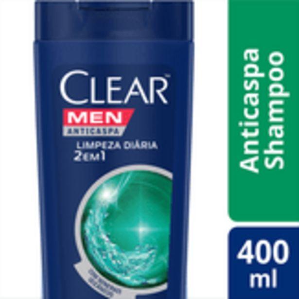 Oferta de Shampoo 2 em 1 Anticaspa Men Limpeza Diária Clear Frasco 400ml por R$25,77