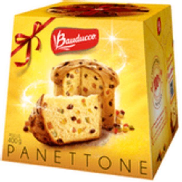 Oferta de Panettone com Frutas Cristalizadas Bauducco Caixa 400g por R$17,98