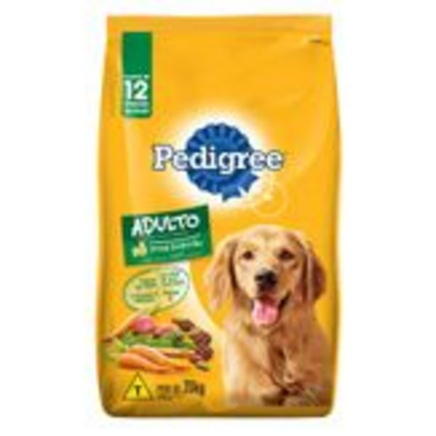 Oferta de Alimento para Cães Adultos Carne e Vegetais Pedigree Pacote 20kg por R$189,99