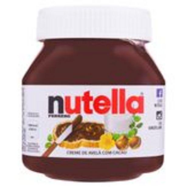 Oferta de Creme de Avelã com Cacau Nutella Pote 650g por R$34,99