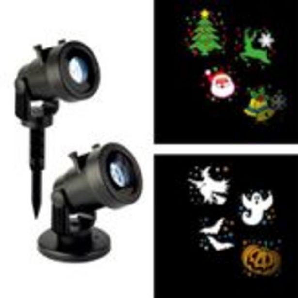 Oferta de Projetor com Temas Halloween ou Natal 127v Member's Mark por R$198