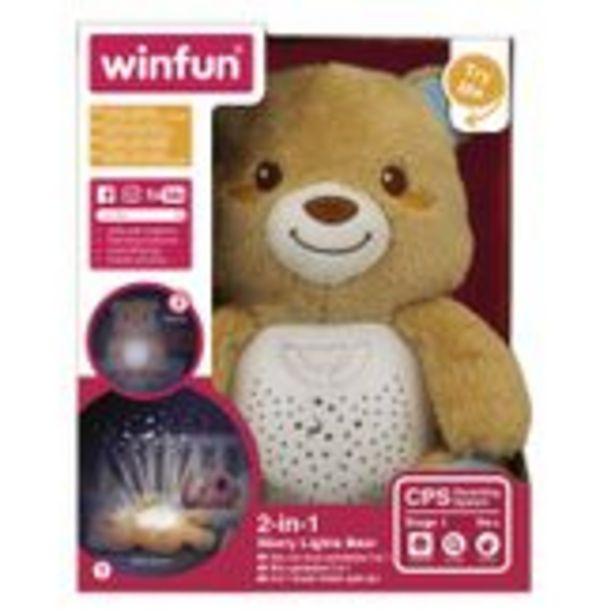 Oferta de Urso de Pelúcia com Projetor de Luz 2 em 1 WinFun Caixa 1 Unidade por R$158,96
