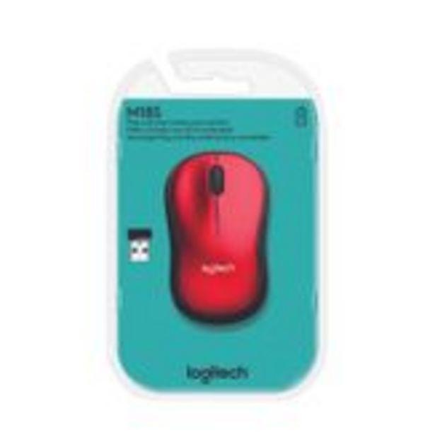 Oferta de Mouse sem Fio Wireless M185 Vermelho Logitech por R$88,99