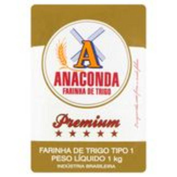 Oferta de Farinha de Trigo Tipo 1 Anaconda Premium Pacote 1kg por R$4,29