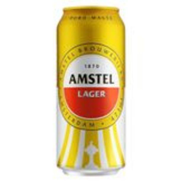 Oferta de Cerveja Lager Puro Malte Amstel Lata 473ml por R$47,88