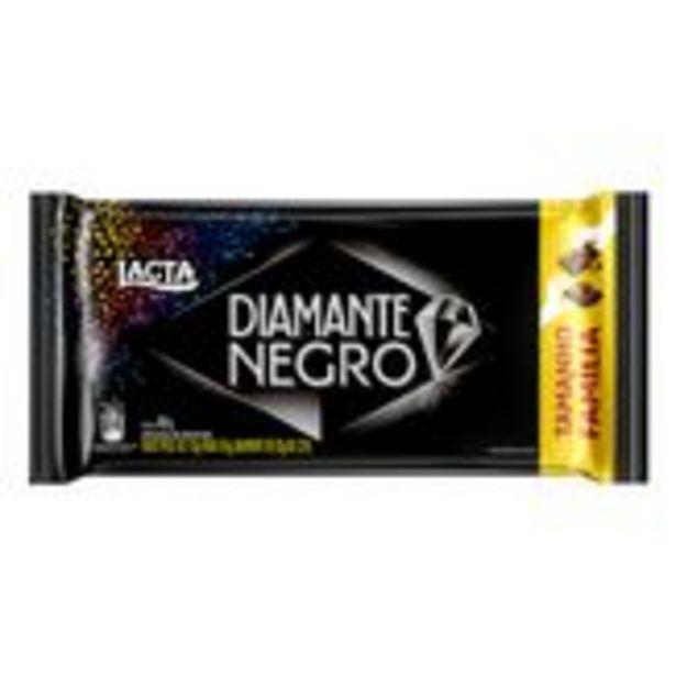 Oferta de Chocolate ao Leite Diamante Negro Pacote 165g Tamanho Família por R$8,48