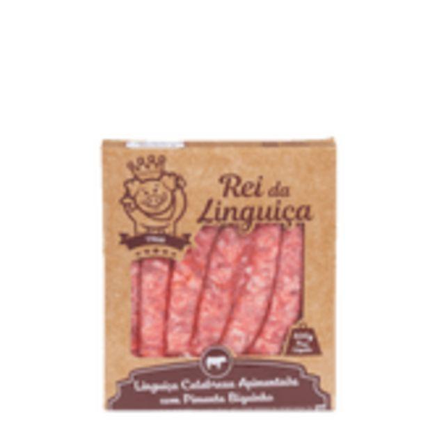 Oferta de Linguiça Calabresa Apimentada com Pimenta Biquinho Rei da Linguiça Caixa 400g por R$12,57