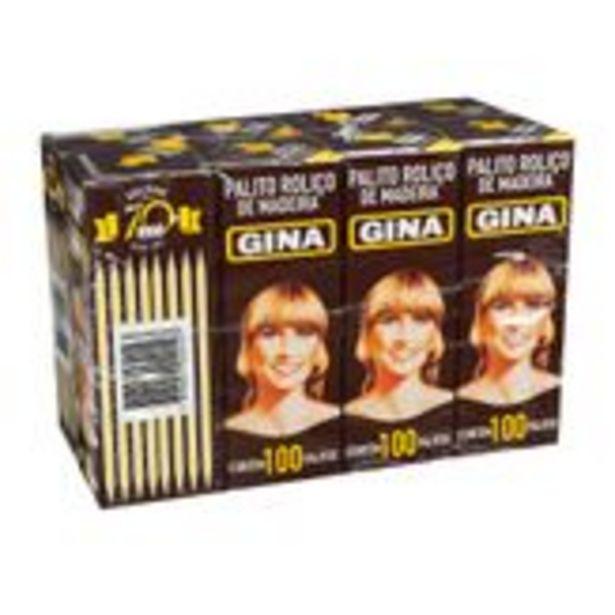 Oferta de Palito de Madeira Gina Pack com 8 Unidades por R$6,98